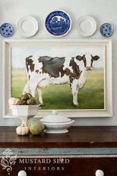 Home projects completed in 2013 - miss mustard seed art i lo Cow Kitchen, Kitchen Dining, Kitchen Ideas, Seed Art, Holstein Cows, Cow Decor, Fine Art Prints, Canvas Prints, Miss Mustard Seeds