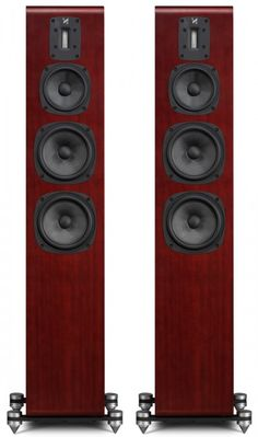 The Quad S-5 floor standing speaker incorporates a smart Ribbon Treble unit aligned with Kevlar-coned bass and mid-range drivers using crossover networks.