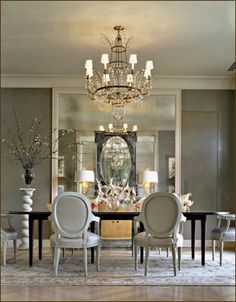 Otherwise Occupied: Gray Dining Room