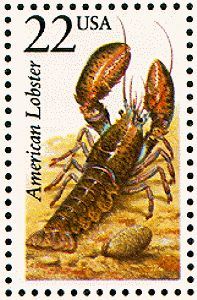 American Lobster USA postage stamp