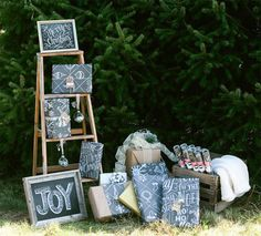 Chalkboard Holiday Wrapping Paper   Lily & Val