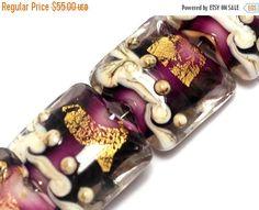 ON SALE 40% OFF Seven Amethyst Treasure Pillow Beads