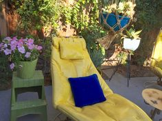 """60's Pillow Mid Century Royal Blue Velvet Throw Pillow - 13"""" Square by ElkHugsVintage on Etsy"""