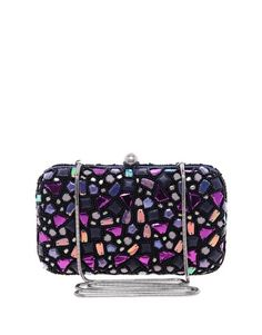 French Connection Mosaic Box Clutch Bag