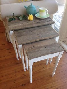 upcycled nest of tables                                                                                                                                                                                 More