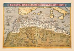 Buyenlarge Map of Northern Africa by Abraham Ortelius Framed Graphic Art Early World Maps, Nova, Poster Prints, Art Prints, Posters, Africa Map, Old Maps, Vintage Maps, Cartography