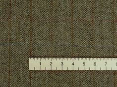Harris Tweed C001T handmade 100% wool curtain upholstery fabric with ruler