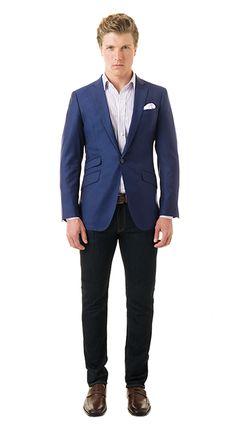 BlackLapel | Solid Royal Blue Blazer