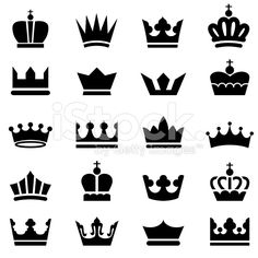 Crown Icons royalty-free stock vector art