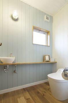 Content filed under the Bathroom Vanities taxonomy. Wood Panel Bathroom, Corner Sink Bathroom, Laundry In Bathroom, Wc Design, House Design, Small Toilet Room, Bathroom Toilets, Bathrooms, Downstairs Toilet