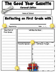 End of the School Year Writing Activity