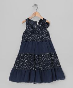 Take a look at this Navy & White Erica Dress - Toddler by Dorissa on #zulily today!