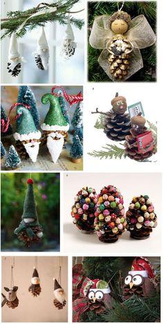 Pomysł na ozdoby świąteczne z szyszek