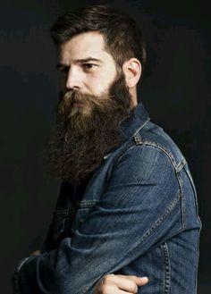 beard & jean jacket