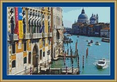 Busy Canal In Venice Cross Stitch Pattern by Avalon Cross Stitch on Etsy