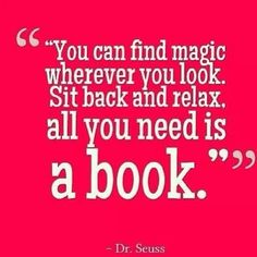 All you need is a book!