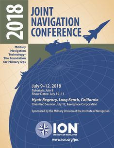 ION Joint Navigation Conference 2018 Cover Art Military Divisions, Long Beach, Cover Art, Conference, Graphic Design, Technology, Engineering, Tecnologia, Cover Design
