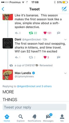 Max Landis #tweeting about Dirk Gently's Holistic Detective Agency #season2