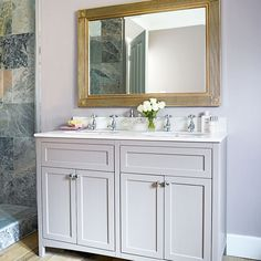 Looking for bathroom design ideas? Be inspired by this traditional bathroom with twin-basin washstand Bathroom Colors, Small Bathroom, Bathroom Plants, Vanity Bathroom, Bathroom Styling, Bathroom Interior Design, Interior Decorating, Old Fashioned Bathtub, Victorian Style Bathroom