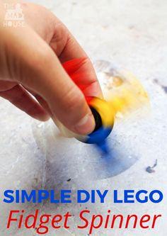DIY LEGO Fidget Spinner tutorials for kids. Join the fidget spinner craze by turning LEGO into these fabulous fidget spinners Lego Spinner, Diy Fidget Spinner, Lego Activities, Craft Activities For Kids, Educational Activities, Lego Projects, Projects For Kids, Legos, Diy For Kids