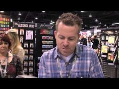 ▶ Tim Holtz Ranger Demo - Sticky Embossing Powder with Foils - CHA 2015 - YouTube
