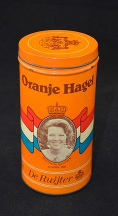 Blik de Ruijter Oranje Hagel, Beatrix - Juliana 1980
