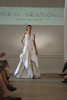 Wedding dress with silk vintage fabric - Sample size - 1000Euros