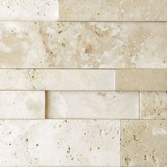 Nysa  Travertine Stack Stone Wall Cladding Panel Z Pattern Honed