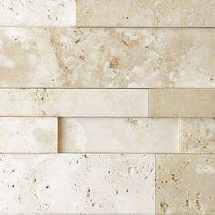 Nysa Travertine Stack Stone Wall Cladding Panel Z Pattern Honed