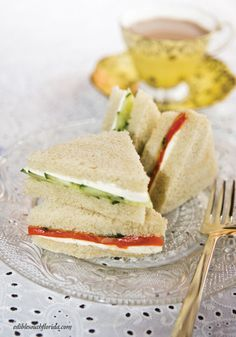 Tea sandwiches are quick, simple and a snap using local ingredients.