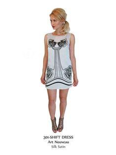 Sarah Stevenson silk print sleeveless shift