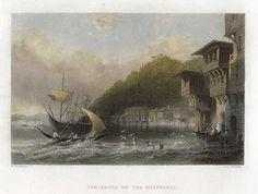Turkey, Yenikeuij on the Bosphorus, 1838