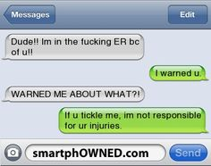 Some serious tickling - - Autocorrect Fails and Funny Text Messages - SmartphOWNED