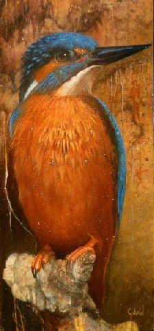 """""""Op wacht"""" 5 x 12 cm oil on panel"""