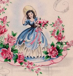 Vintage Illustration - One of the oldest and most famous habits is to Send greeting cards to friends and family either by hand or by mail, now most of people send greeting cards through the internet service.