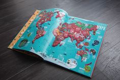 """«Travel Book. Kazakhstan» is the first book about this country in an """"edutainment"""" format. 19 vivid maps with 700 authorical illustrations are full of enthralling facts about the country. There are the most attractive things about Kazakhstan in one art is…"""