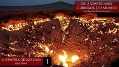 """#LugaresCuriosos: Cratera de Darvaza ↪ Por @RenialisonDiniz. O planeta é um espaço repleto de lugares diferentes e curiosos. Tendo isso em vista, nosso parceiro Renialison Diniz criou a série """"Os Lugares Mais Curiosos do Mundo"""". O primeiro destaque é a Cratera de Darvaza, no Turcomenistão. Veja só! http://curiosocia.blogspot.com.br/2015/01/lugarescuriosos-cratera-de-darvaza.html"""