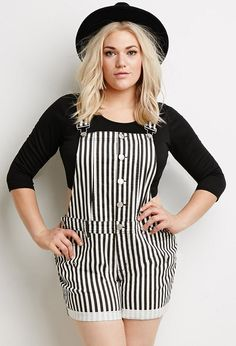 5 stylish casual outfits for curvy teen girls black overalls, plus size fashion, passion Teenager Style, Teenager Outfits, Outfits Plus Size, Dress Plus Size, Plus Size Overall Shorts, Mode Chic, Mode Style, Curvy Girl Fashion, Look Fashion