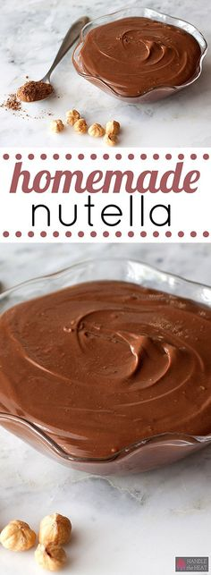 Use this simple recipe to make homemade nutella at home so you can control all the ingredients!