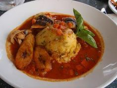 Barbados National Dish - Flying Fish & Cou Cou