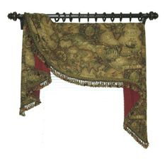 Moreland style tapestry valance Made in house at Rebecca Haas Upholstery