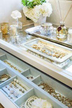 Beautiful jewelry organization