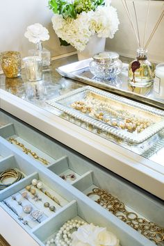 Beautiful jewelry organization