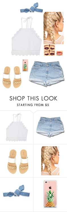 """""""Tell me something good"""" by faithanjel ❤ liked on Polyvore featuring Front Row Shop, Soludos, Colette Malouf and The Casery"""