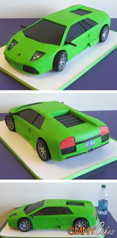 Lamborghini Aventador Super Car Cake Top 3 of 2019 - food. Lamborghini Gallardo, Lamborghini Cake, Lamborghini Diablo, Lamborghini Interior, Rodjendanske Torte, Susie Cakes, Truck Cakes, Sculpted Cakes, Different Cakes