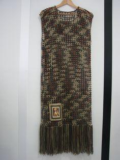 GYPSY fringe long crochet tunic cover camoflage by anniebDesignz
