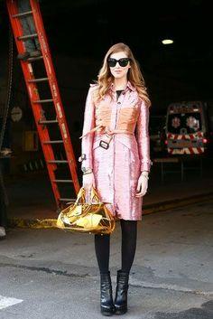 Best of Street Style at #NYFW Fall 2013. Chiara Ferragni in Burberry metallics, Hot or Mmmm...?