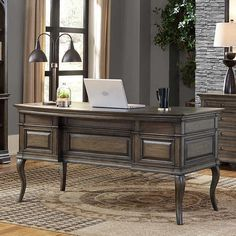 """Kemper 61"""" Half Pedestal Desk"""