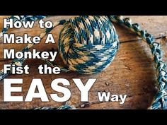How to make a Monkey fist THE EASY WAY! - YouTube Beaded Christmas Decorations, New Years Decorations, Paracord Knots, Rope Knots, Diy Rope Toys For Dogs, Scout Knots, Monkey Fist Knot, Rope Crafts, Survival Tools