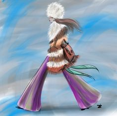 Love her Fashionstyle #JanisJoplin forever - Bohemian chic... sketch by Linda Zoon